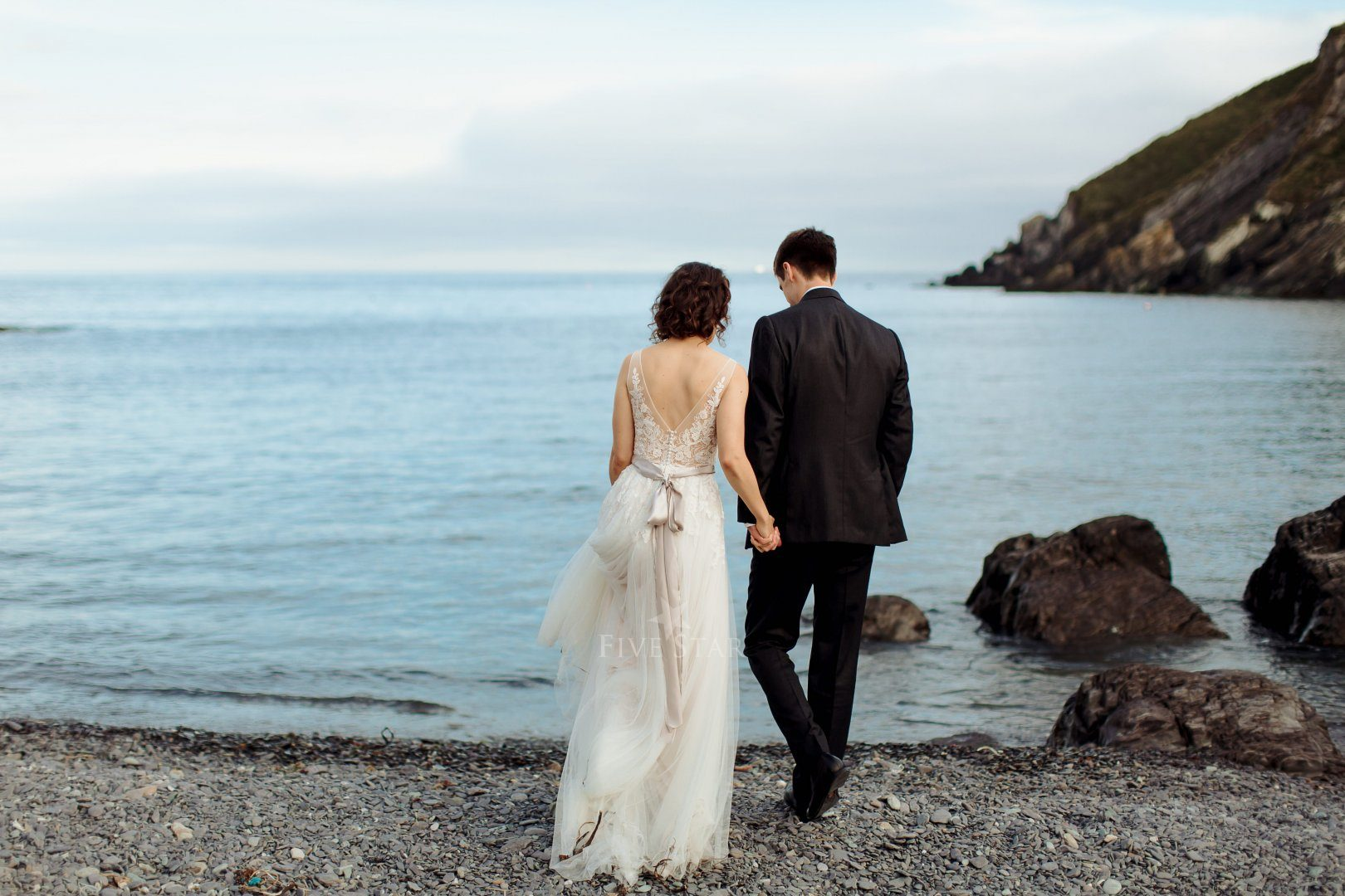 Wedding photos at Sands Cove, bottom of the laneway