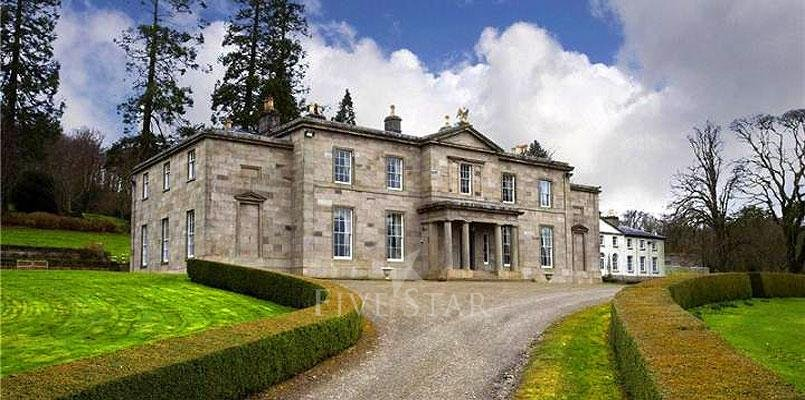 Capard house five star luxury house for sale rosenallis for Luxury homes for sale ireland