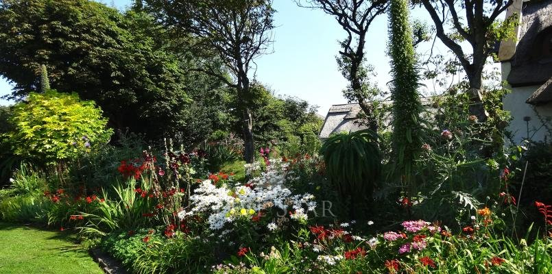 Private organic flower gardens.