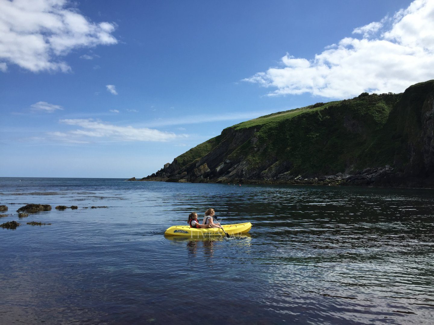 Kayaking at Sands Cove, beside house